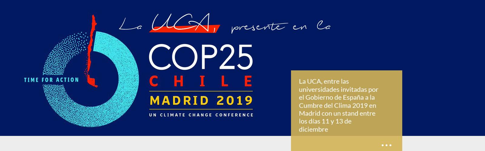 La UCA en la Cumbre Mundial del Clima COP25